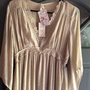 NWT L Love Gauze Maxi Dress